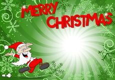 Christmas background with santa claus. Vector illustration of a christmas background with santa claus Royalty Free Stock Images