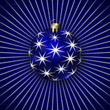 Vector Illustration of Christmas Decoration BalL Royalty Free Stock Images