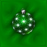 Vector Illustration of Christmas Decoration Ball Stock Images