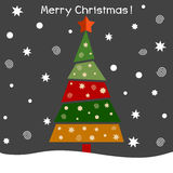 Vector illustration of a christmas fir tree. Vector Stock Images