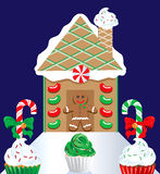 Christmas Gingerbread House 2 Royalty Free Stock Images