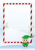 Vector illustration of a Christmas greeting card. With funny boy stock illustration