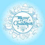 Vector illustration christmas greeting card Stock Images