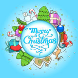 Vector illustration christmas greeting card Royalty Free Stock Image