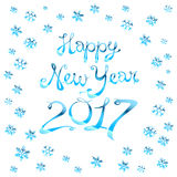 Vector illustration Christmas and Happy New Year. Blurred background. Falling snow. Wallpaper. EPS 10. 2017. Art Stock Photos