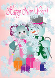 Vector illustration for Christmas and New Year design. Vector illustration for Christmas and New Year card Stock Images