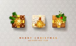 Vector illustration for Christmas and New Year. Three packed gif stock illustration