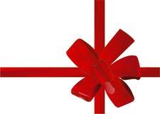 Vector illustration christmas red ribbon(backg stock image