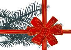 Vector illustration christmas red ribbon(backg stock images