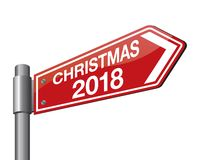 Vector illustration of christmas road sign. New Year is coming, wish you all the best as always in this coming new year.  vector illustration