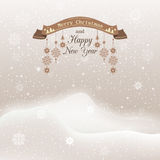 Vector illustration, Christmas snowfall with Stock Photos