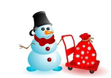 Vector illustration the Christmas snowman Stock Images