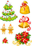 Vector illustration of christmas stuff Stock Images