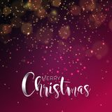 Vector illustration on a christmas theme with glowing lights and typography. Creative Holiday design for greeting card. Stock Image