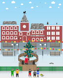 Vector illustration on a Christmas theme. New year Stock Photo
