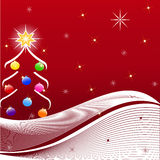 vector illustration of Christmas Tree Royalty Free Stock Images