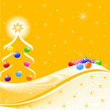 vector illustration of Christmas Tree Royalty Free Stock Photos
