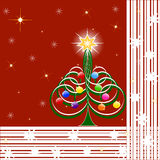 vector illustration of Christmas Tree Stock Image
