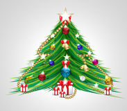 Vector Illustration of Christmas Tree Royalty Free Stock Image
