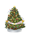 Vector Illustration Christmas Tree Royalty Free Stock Image