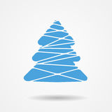 Vector Illustration of Christmas Tree Icon Royalty Free Stock Photography