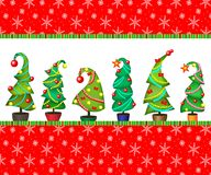 Option cards, covers, labels.Vector illustration of a Christmas tree. Royalty Free Stock Photos
