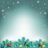 Vector illustration of Christmas tree toys Royalty Free Stock Photo