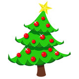 Vector illustration of Christmas tree Royalty Free Stock Photo
