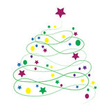 Vector illustration Christmas tree. Royalty Free Stock Images