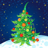 Vector illustration of a Christmas tree. Stock Photo