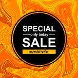 Square banner with Special sale royalty free illustration