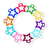 Vector illustration circle of colorful men Royalty Free Stock Photo