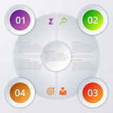 Vector illustration of circles infographics.  Royalty Free Stock Photo