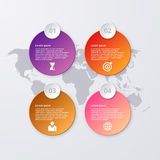 Vector illustration of circles infographics.  Royalty Free Stock Images