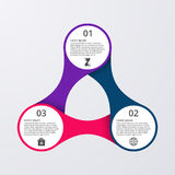 Vector illustration of circles infographics.  stock illustration