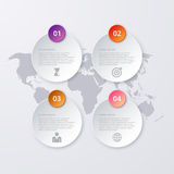 Vector illustration of circles infographics.  Stock Photo