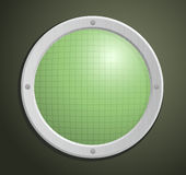 Vector illustration of circular radar Stock Photos