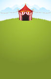 Circus Tent. Vector illustration of a circus tent on the field Royalty Free Stock Photo