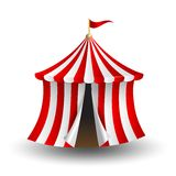 Vector illustration of circus tent with flag Royalty Free Stock Image
