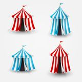 Vector illustration of circus tent with flag Royalty Free Stock Images
