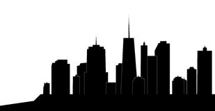 Vector illustration of cities silhouette Stock Photos
