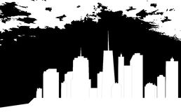 Vector illustration of cities silhouette Royalty Free Stock Photography