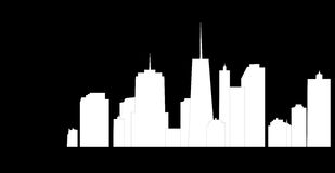 Vector illustration of cities silhouette Royalty Free Stock Photo