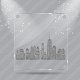 Vector illustration of cities silhouette. EPS 10. Royalty Free Stock Photography