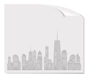 Vector illustration of cities silhouette. EPS 10. Stock Images