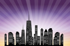 Vector illustration of cities silhouette. EPS 10. Stock Photos