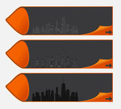 Vector illustration of cities silhouette. EPS 10. Royalty Free Stock Image
