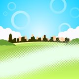 Vector illustration of city Stock Images