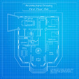 Vector illustration of city building blueprint. Royalty Free Stock Images