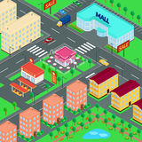 Vector illustration. City. Stock Photos